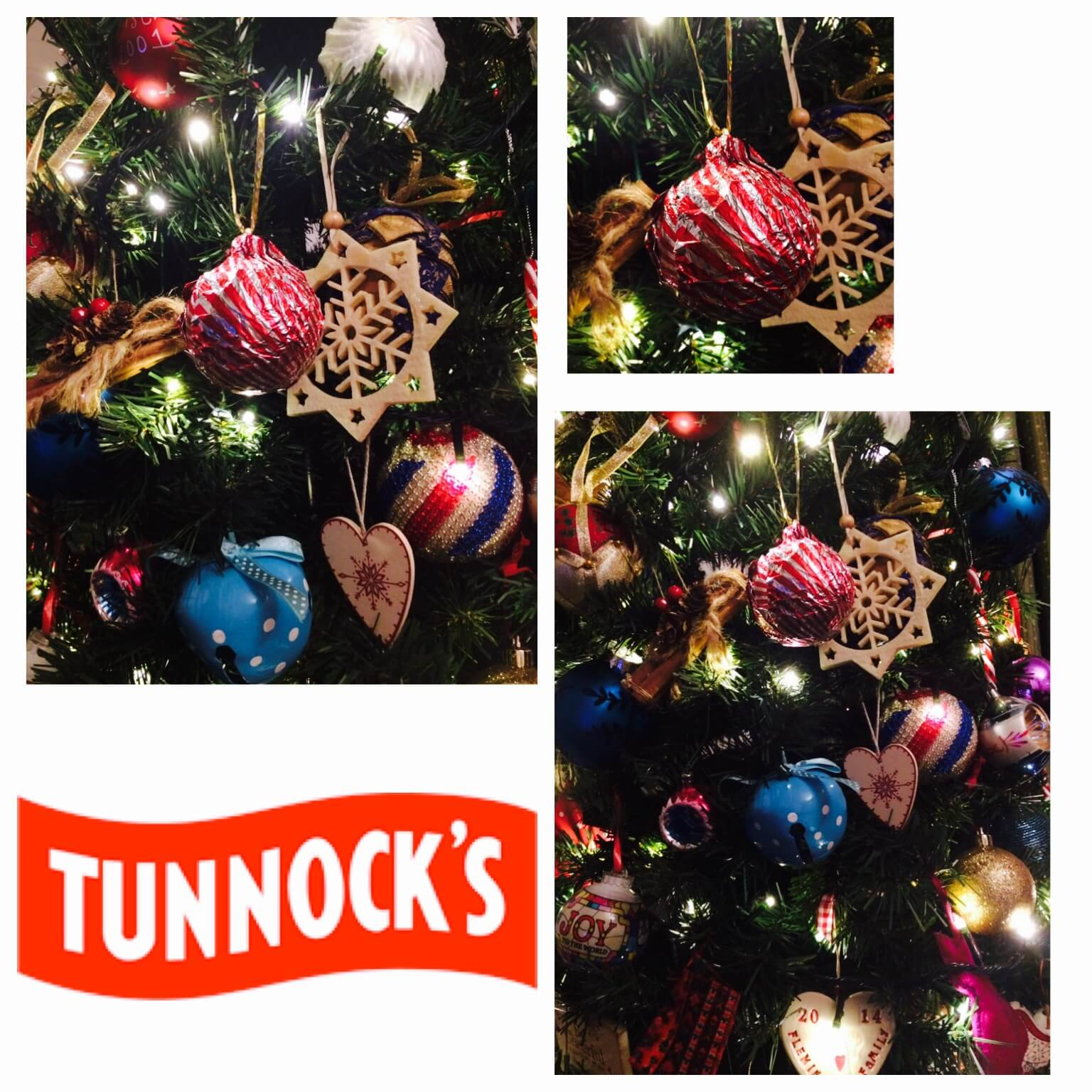 quick and easy christmas decor - tunnocks baubles