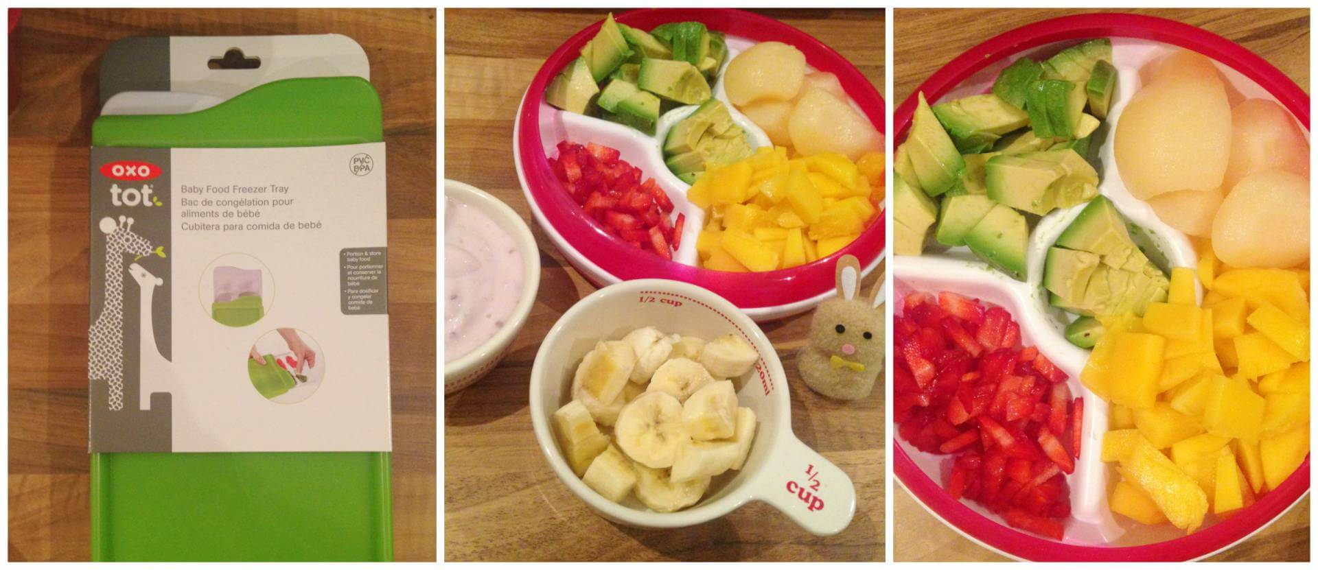 Healthy Easter Treats for Baby - Fruit pops using the OXO Tot freezer tray