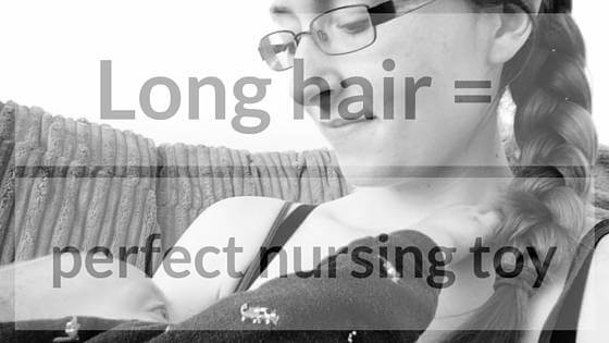 long hair nursing toy