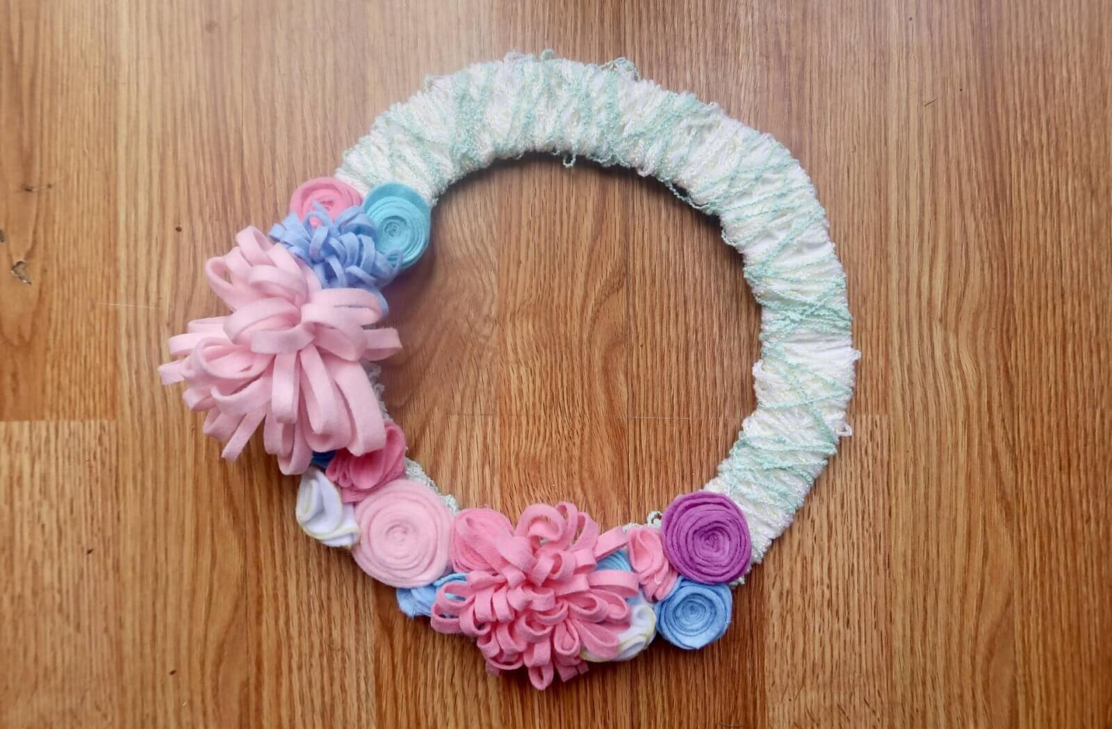 How To Make A Floral Spring Wreath