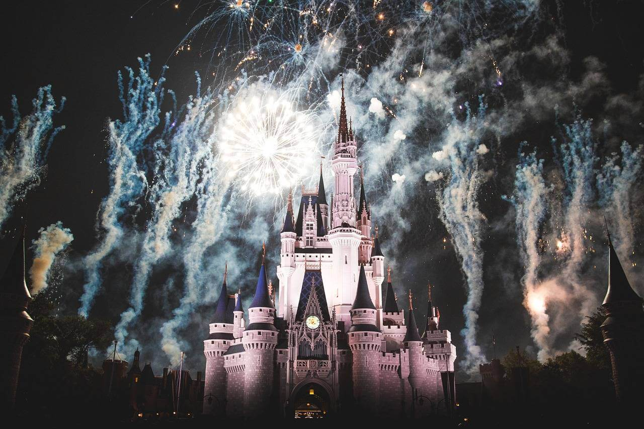 disney castle fireworkd night mum loves disney
