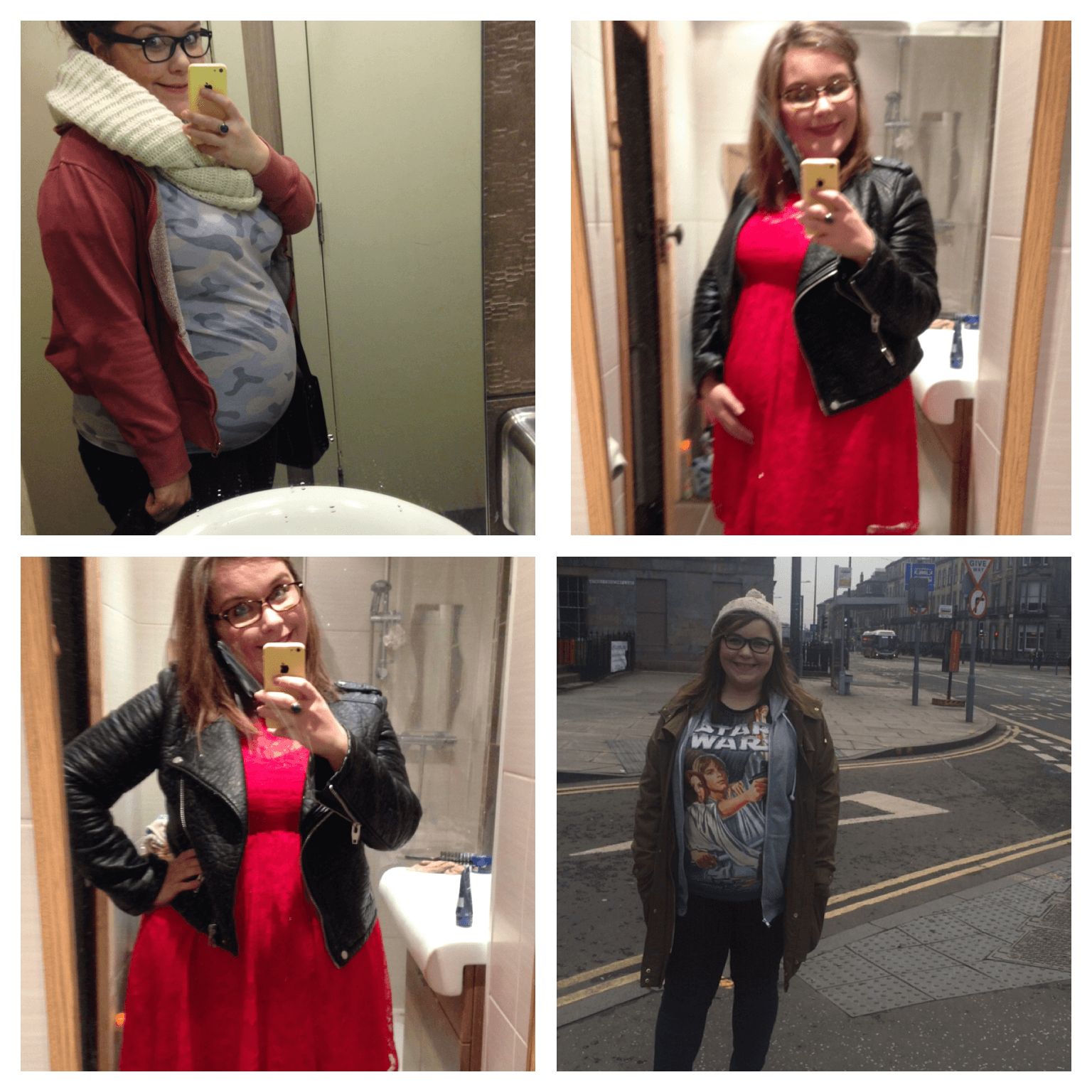 maternity style collage