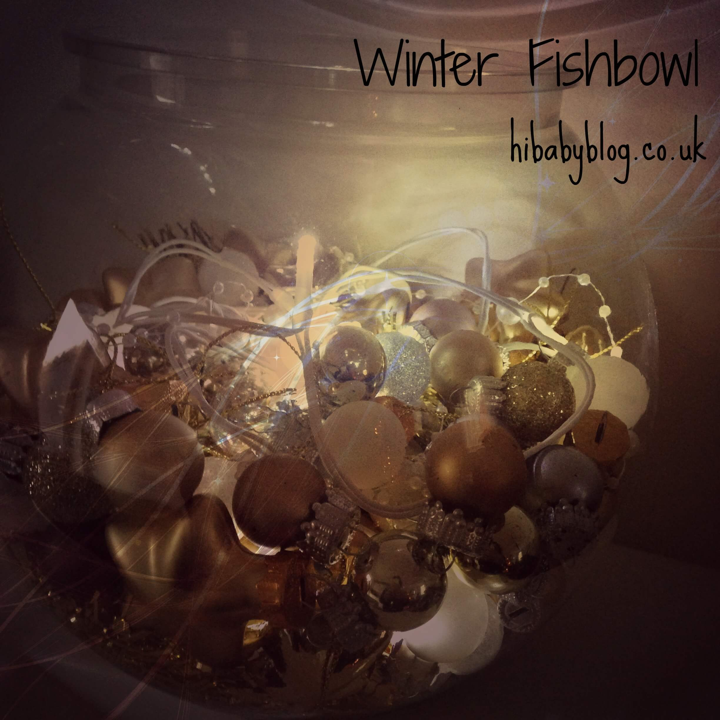 quick and easy christmas decor- winter fishbowl
