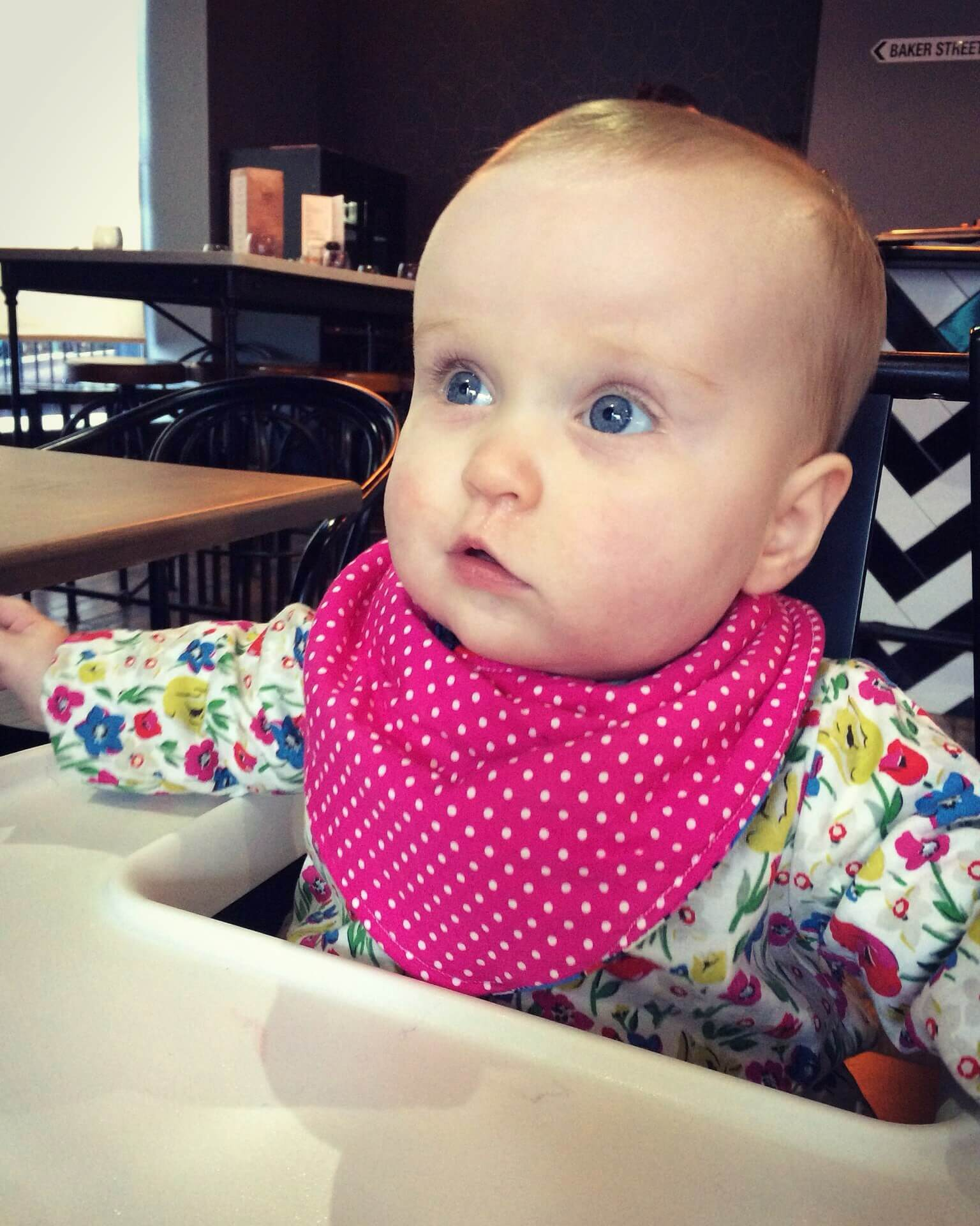 luisa 8 month update - cafe