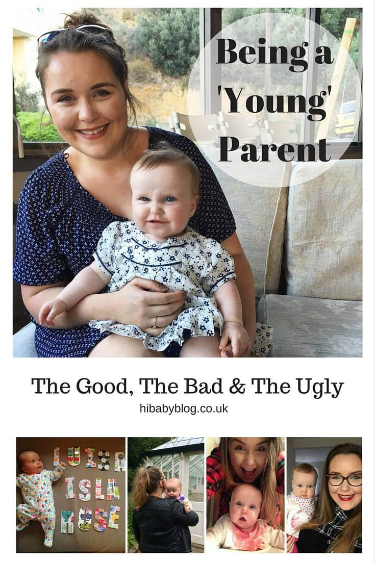 young-parent-good-bad-ugly I was 24 when Luisa was born, I definitely considered myself to be a young parent. I felt a bit awkward having a baby in my early 20s as I was hardly a 'teen mum' but I was a good 10 years younger than the majority of people in my antenatal & (later) mums & tots groups. In the UK the current average age to have your first child is 30.2 and climbing. In fact a newborn baby is 4x more likely to have a mum who's over 40 than one in their teens. In my experience I was too old to be cut a break or given the benefit of the doubt but too young to be taken seriously by or 'fit in' with the other mums to be I encountered.