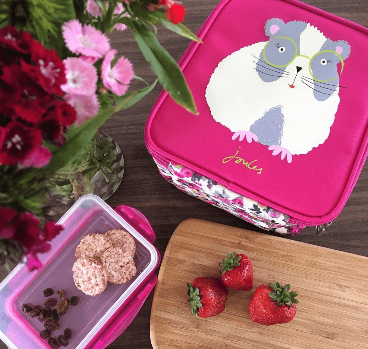 house of fraser joules guinea pig lunch bag back to school