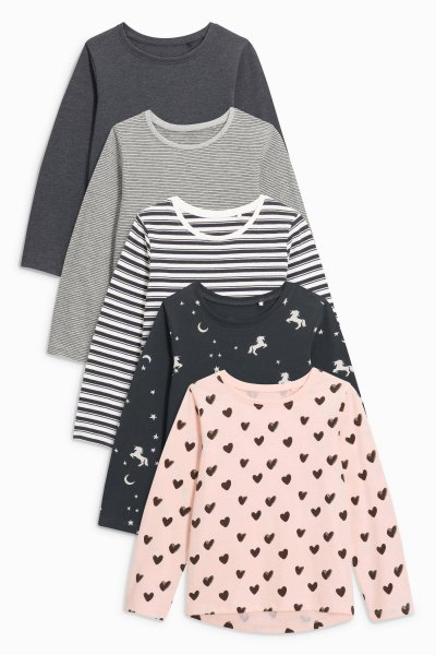 5 Pack Monochrome Tops